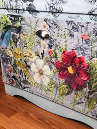 Iron Orchid Designs Painted Dresser With Iod Decor Transfer