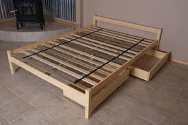 Furniture Untreated Solid Wood Bed Frame Sleigh Organic Lifestyle Organic Bedroom Untreated Solid Wood Bed Frame Sleigh