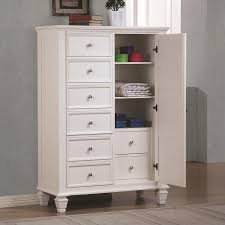 Coaster Sandy Beach Armoire In White White Armoire With Drawers P24