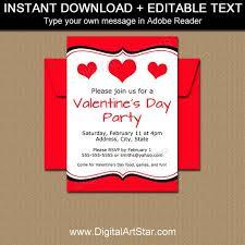 Valentines Day Invitations Extraordinary Valentine Invitations Valentines Day Invitation Template Etsy