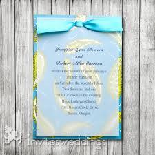 blue wedding invitations cheap invites at invitesweddings com Wedding Invitation Blue And Green winter blue green ribbon layered wedding invites iwfc035 wedding invitation blue green motif
