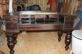 office furniture desk vintage chocolate varnished. Interesting Antique Desks For Your Office Design: Wooden Espresso Finish With Drawers Furniture Desk Vintage Chocolate Varnished N