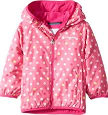 Columbia Youth Size Chart Columbia Kids Baby Girls Mini Pixel Grabber Ii Wind Jacket Infant Toddler Wild Geranium Polkadot 4t