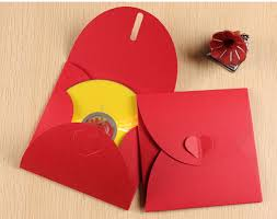 Cd Paper Case Red Cd Packaging Paper Bag Creative Heart With Dvd Paper Box Bag