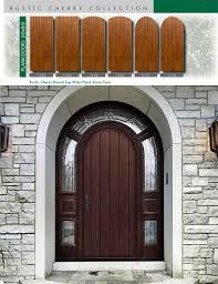 richerson mastergrain premium fiberglass entry doors richerson rustic cherry collection rustic cherry round top wide plank entry door by fiberglass doors