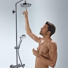 <b>Hansgrohe Croma Select S</b> 180 2jet Showerpipe Set - UK Bathrooms