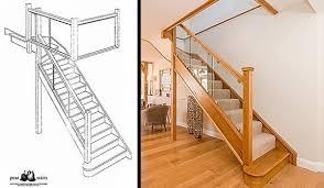 shuddy barn glass staircase