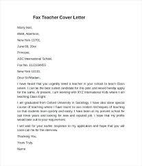 New Teacher Cover Letter Example Fax Teacher Cover Letter Example
