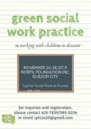 Green Social Work Practice Disciplines November 26 28