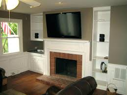 mount tv on fireplace brick mounting above brick fireplace enchanting ideas with large over how to