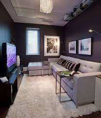 Black and White Minimalist Design TV Viewing Area