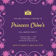 Baby Shower Invitation Cards Princess Baby Shower Invitation Card B