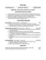 Labor Job Resume General Labor Job Objective Sample RESUME 9