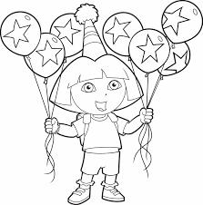 Kleurplaat Dora