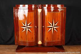 art deco furniture 1920s. art deco cabinet chest star inlay 1920s furniture