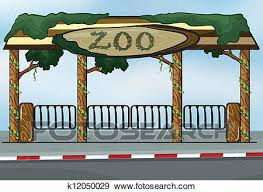 zoo entrance clip art. Contemporary Entrance Clip Art  A Zoo Entrance Fotosearch Search Clipart Illustration  Posters Drawings On Zoo Entrance