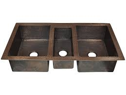 Triple Bowl Copper Kitchen Sinks Rustic Sinks