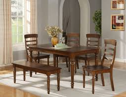 fetching dining room furniture with bench ideas extraordinary dining room decoration using rectangular cherry wood