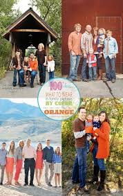 good colors for family pictures. family picture clothes by color series-orange good colors for pictures