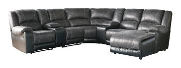 ashley furniture nantahala slate raf chaise and two console sectional to enlarge