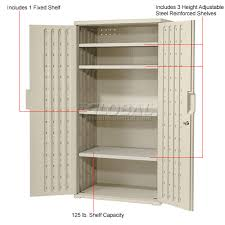 rubbermaid plastic storage cabinet. Awesome Rubbermaid Plastic Storage Cabinet Cabinets 36x22x72 Light Gray E