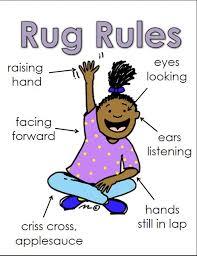 Rug Rules Chart Kindergarten Chaos