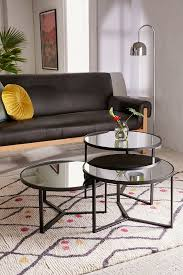 Slide View: 1: Elliot Mirrored Coffee Table