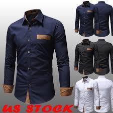 Designer Shirts For Men Details About Mens Formal Shirt Men Fashion Dress Designer Casual Luxury Shirts Regular Fit Us