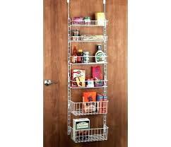 overdoor storage basket rack storage basket rack over door shelf rack 5 foot storage basket rack