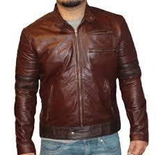 classyak men fashion real leather jacket brown spark quality lambskin xs 5xl