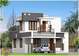 small flat roof double stories house indian house plans