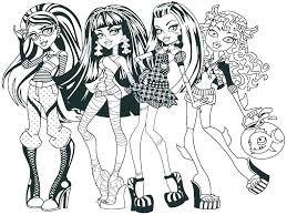 Monster High Color Pages Monster High Coloring Pages Monster High