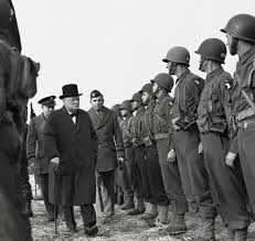 finest hours the new yorker churchill inspecting american troops in england in 1944 we shall go on