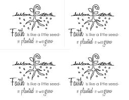 Faith Is Like A Seed Printable