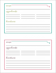 Recipe Cards Print Free Printable Recipe Cards Just A Girl And Her Blog