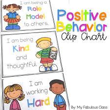 Behaviour Clip Chart Positive Behavior Clip Chart My Fabulous Class Behavior
