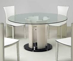 dining room attractive design with glass top table picture on outstanding round glass table top inch dining and chairs in s
