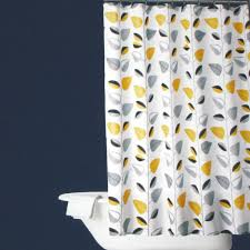 yellow black and gray curtain for shower