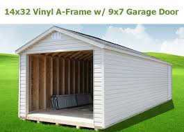 garage door 9x7AFrame  Bunce Buildings