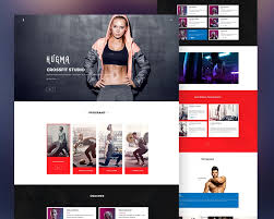 gym website design gym website template psd download download psd