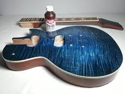 tru oil guitar finish so i m back with my diy les paul guitar kit