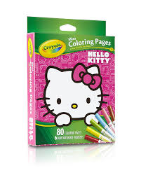 Small Picture Amazoncom Crayola Hello Kitty Mini Coloring Pages No Toys Games