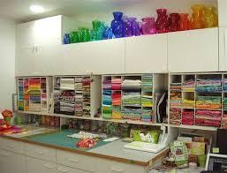 368 best Quilt Studio images on Pinterest | Organization ideas ... & SpringLeaf Studios: My Colorful Studio - so colorful Adamdwight.com
