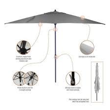 6 ft aluminum market patio umbrella in