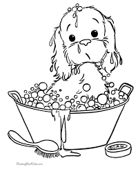 Free Printable Puppy Picture To Color Printable Dogs Dog
