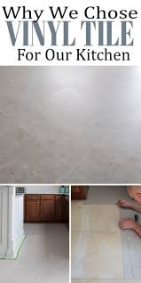 luxury vinyl tile was perfect for our diy tile installation project in the kitchen here