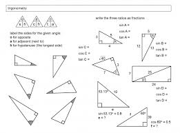 beautiful trigonometry in right angled triangles trig worksheet tes pic trig worksheet worksheet um