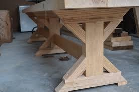 woodwork x leg dining table plans pdf plans