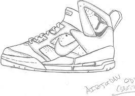 Michael Jordan Shoes Coloring Pages
