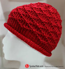 Loom Knitting Hat Patterns Fascinating Loom Knit Hat The Diamond Brocade Beanie By LoomaHat On DeviantArt
